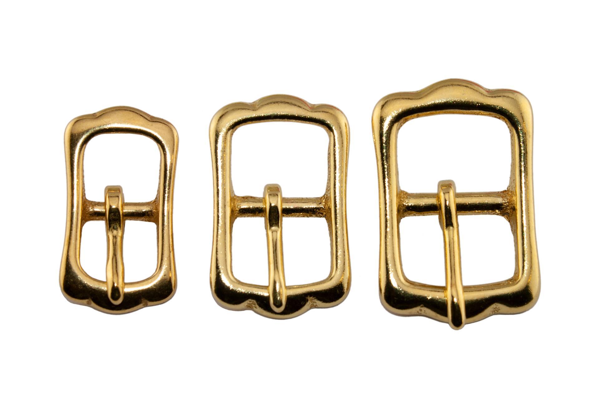10 Stück Stegschnalle 12mm Messing rostfrei Schnalle Stegschnallen Schnallen