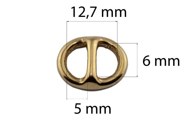 Ovaler Stegring – Messing (gold)
