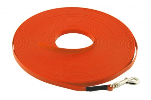 BioThane® Schleppleine – 9 mm Ultra Thin – Neon-Orange
