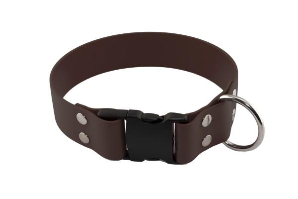 BioThane® Halsband – Klickverschluss – 50 mm – Dunkelbraun