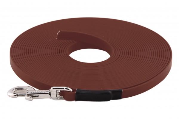 BioThane® Schleppleine – 16 mm Standard – Rotbraun
