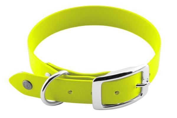 BioThane® Halsband – Dornschnalle – 25 mm – Neon-Gelb