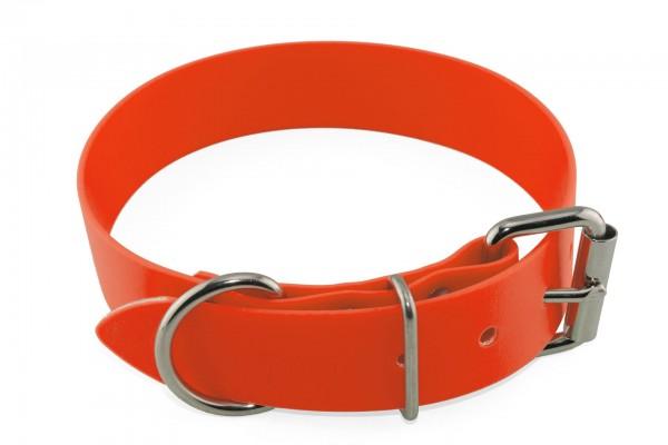 BioThane® Halsband – Rollschnalle – 38 mm – Neon-Orange