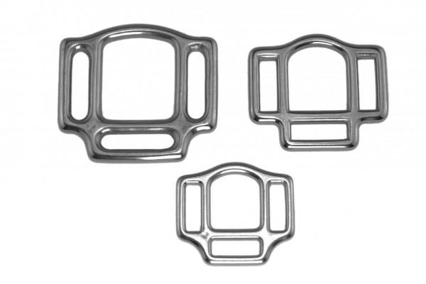Halfterringe – dreifach – Edelstahl (silber)