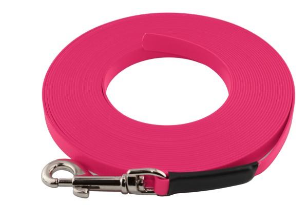 BioThane® Schleppleine – 16 mm Super Flex – Neon-Pink