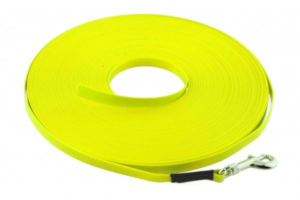 BioThane® Schleppleine – 9 mm Ultra Thin – Neon-Gelb