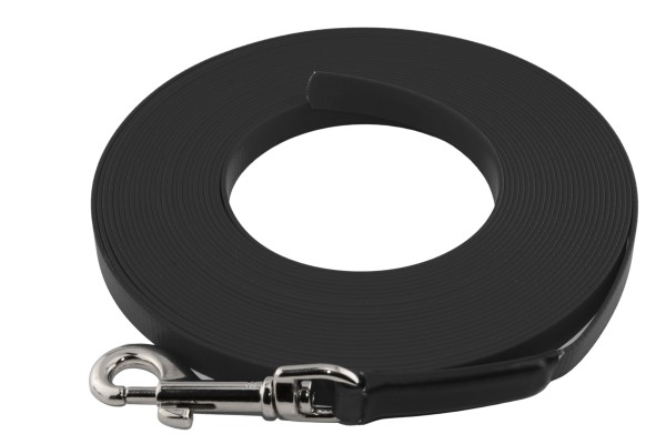 BioThane® Schleppleine – 16 mm Super Flex – Schwarz