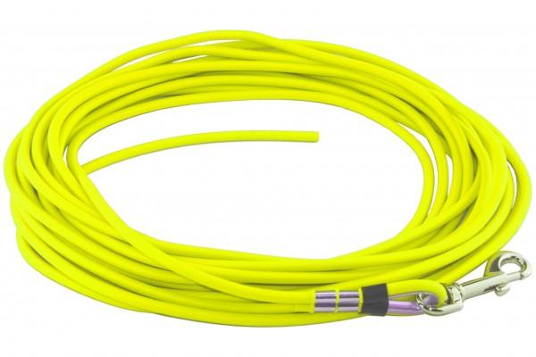 BioThane® Schleppleine – Ø 8 mm rund – Neon-Gelb