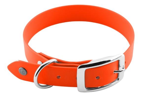 BioThane® Halsband – Dornschnalle – 25 mm – Neon-Orange