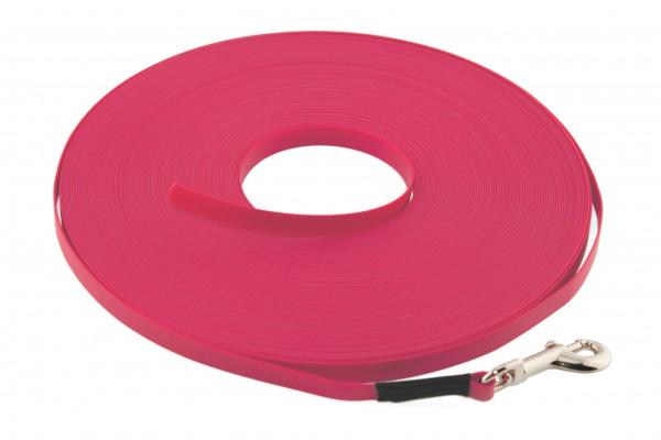 BioThane® Schleppleine – 9 mm Ultra Thin – Neon-Pink
