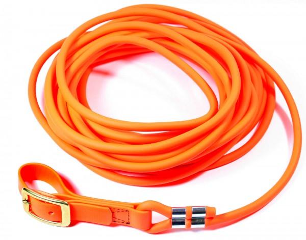 BioThane® Schweißleine – Ø 8 mm rund – Neon-Orange