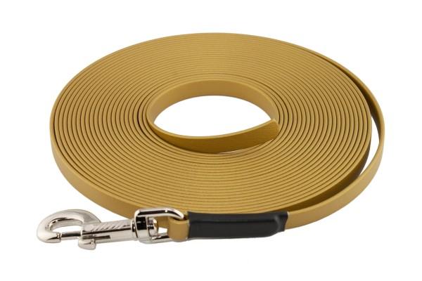 BioThane® Schleppleine – 16 mm Standard – Gold
