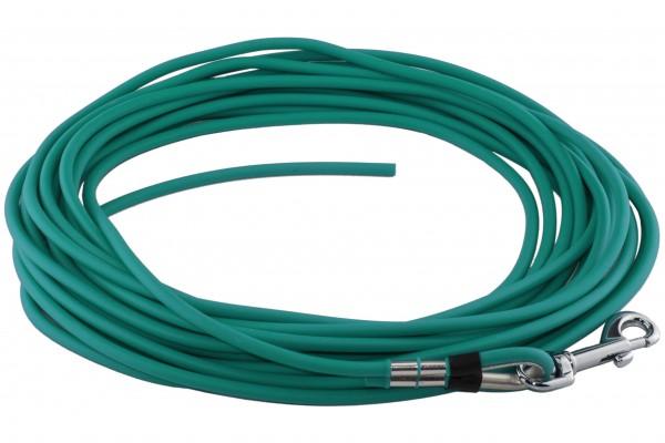 BioThane® Schleppleine – Ø 6 mm rund – Petrol (Teal)