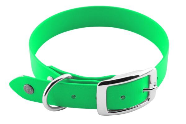 BioThane® Halsband – Dornschnalle – 25 mm – Neon-Grün
