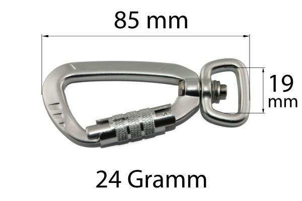 Sicherheitskarabiner – Aluminium – 19 mm