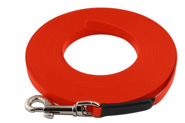 BioThane® Schleppleine – 9 mm Super Flex – Neon-Orange