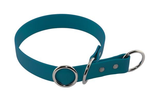 BioThane® Halsband – Zugstopp – 19 mm – Lagune