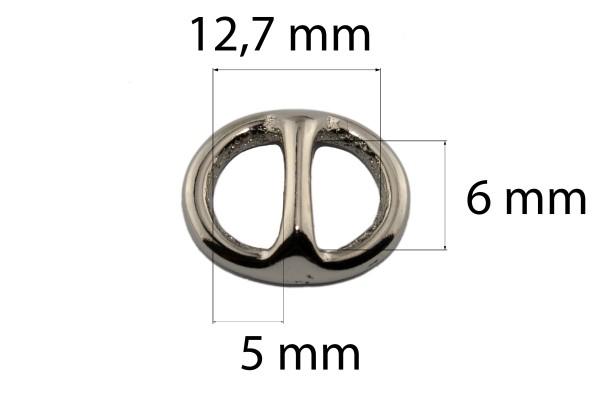 Ovaler Stegring – Messing (silber)