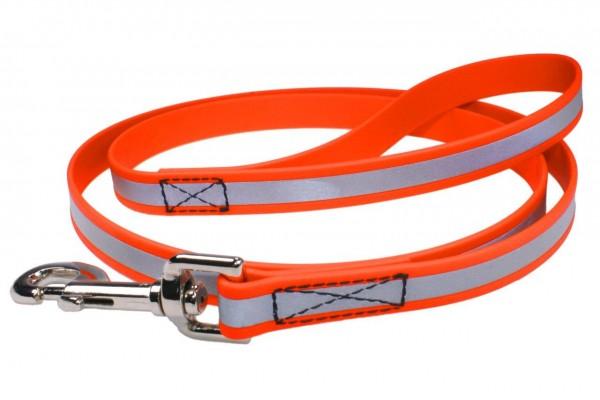 BioThane® Führleine – 19 mm Reflex – Neon-Orange