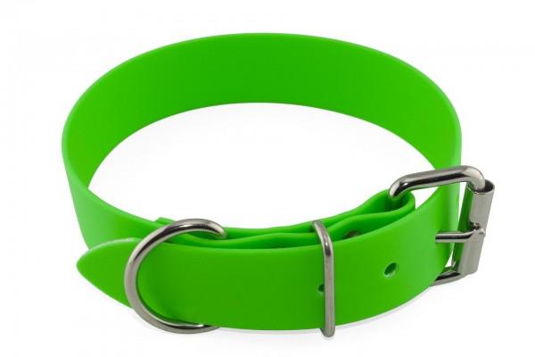 BioThane® Halsband – Rollschnalle – 38 mm – Neon-Grün