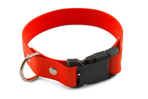 BioThane® Halsband – Klickverschluss – 25 mm – Neon-Orange