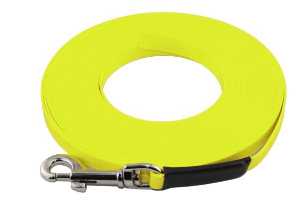 BioThane® Schleppleine – 9 mm Super Flex – Neon-Gelb