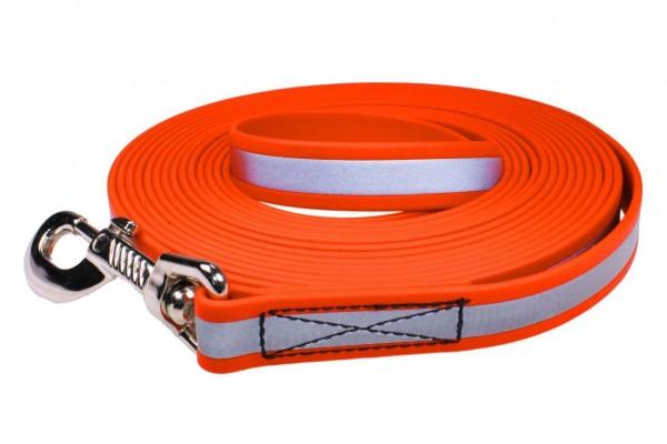 BioThane® Schleppleine – 19 mm Reflex – Neon-Orange