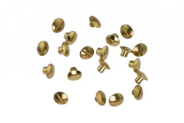 Buchschrauben – Stahl (gold)