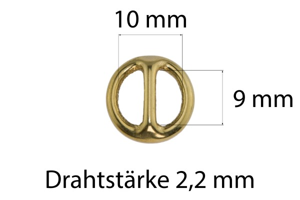 Rundring mit Steg – Messing (gold)