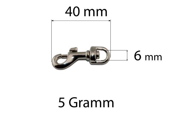 Bolzenkarabiner – Zinkdruckguss (silber)