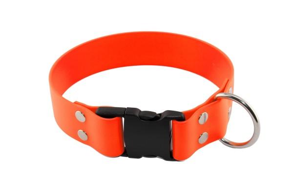 BioThane® Halsband – Klickverschluss – 38 mm – Neon-Orange