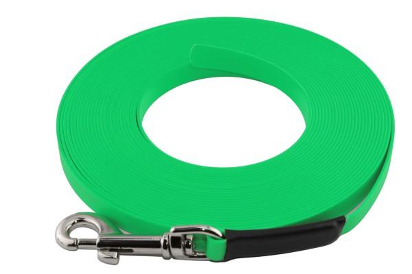 BioThane® Schleppleine – 19 mm Super Flex – Neon-Grün