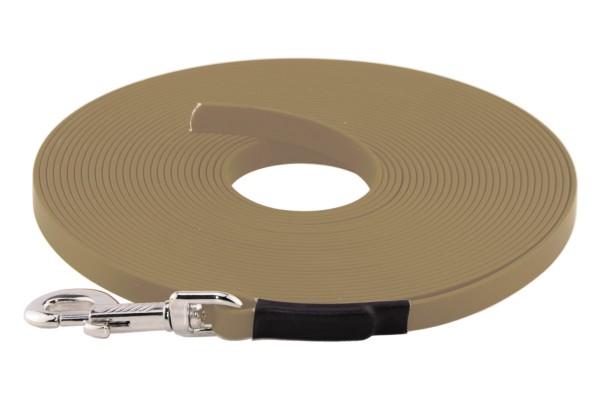 BioThane® Schleppleine – 16 mm Standard – Beige (Khaki)