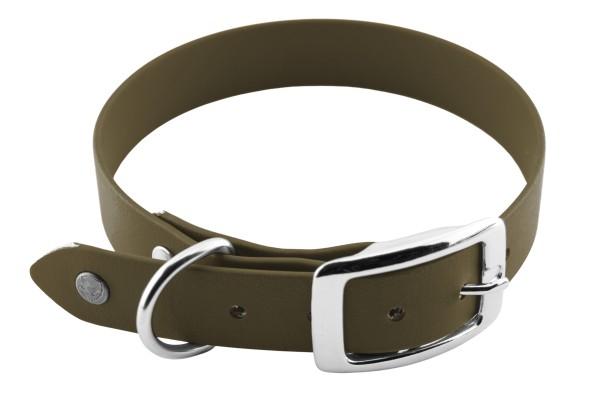 BioThane® Halsband – Dornschnalle – 25 mm – Oliv
