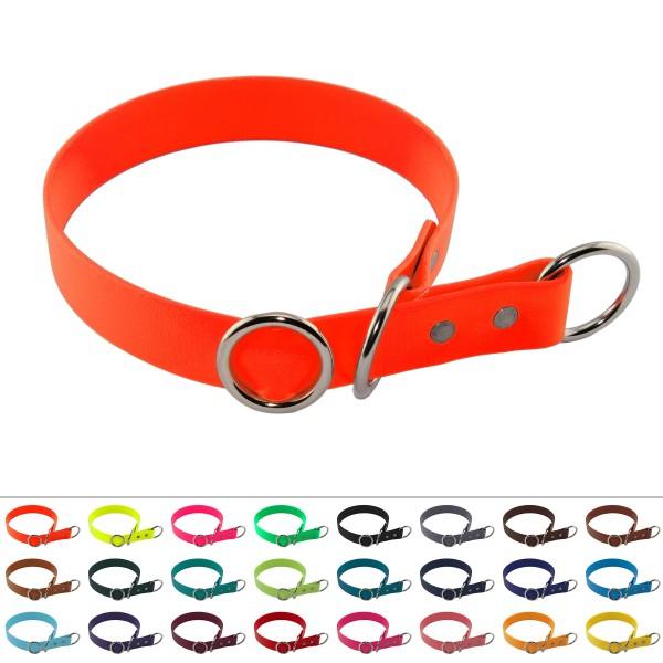 BioThane® Halsband – Zugstopp – 25 mm – Neon-Orange