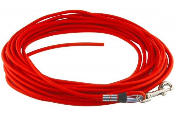 BioThane® Schleppleine – Ø 6 mm rund – Neon-Orange